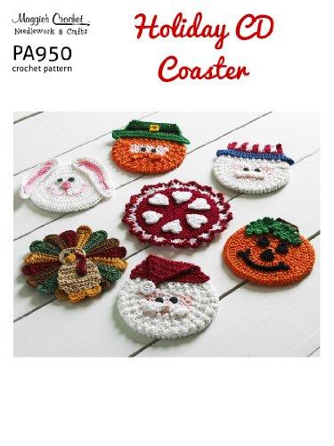 Crochet Pattern Holiday Cd Coasters Pa950-R