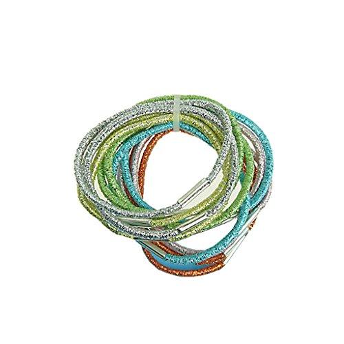 Accessoires Cheveux - Basic Elastique Cheveux Paquet de: 12 pièces Material: 60% Polyester Material: 40% Caoutchouc Color: Couleurs variees