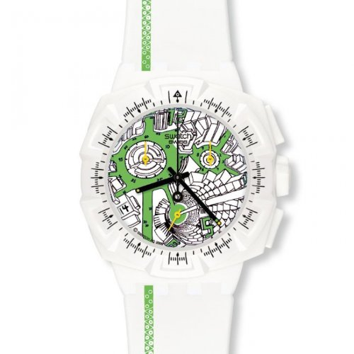 Swatch 'Street Map Green' Watch SUIW409