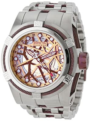 Invicta Men's 12945 Bolt Reserve Automatic Gold Tone Dial Stainless Steel Watch