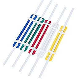 Cmxsevenday No.5548 Plastic Prong Paper Fasteners, 3.5 Inch Base, 2 Holes, Various Colors, 50 Sets Pack