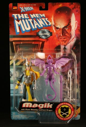 MAGIK with Flame Shooting Lockhead Dragon X-MEN THE NEW MUTANTS Action Figure (Iron Man Action Figure )