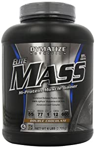 Dymatize Nutrition Elite Mass Gainer, Double Chocolate, 6-Pound