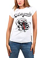 Amplified Camiseta Manga Corta Vintage-Whitesnake (Blanco)