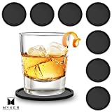 MYXER Drink Silicone Coasters - Set of 8 - Easy to Clean & Leave No Stains with Good Grip