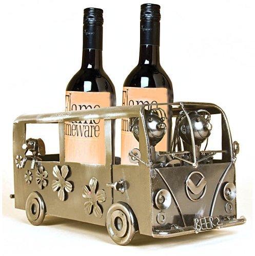 Amoureux dans un camping-car - Bouteille de vin Support / casier à vin