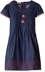UFO Girls' Dress (AW16-WR-GK-356_Indigo Blue_6 - 7 years)
