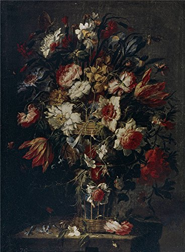 The Polyster Canvas Of Oil Painting 'Arellano Juan De Florero Second Half Of 17 Century ' ,size: 10 X 14 Inch / 25 X 35 Cm ,this Imitations Art DecorativeCanvas Prints Is Fit For Bar Artwork And Home Artwork And Gifts