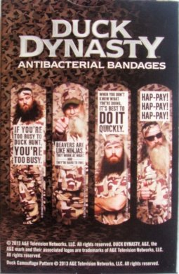 Duck Dynasty A&E Antibacterial Sterile First Aid Antiseptic Bandages 20 Count (Single Pack)