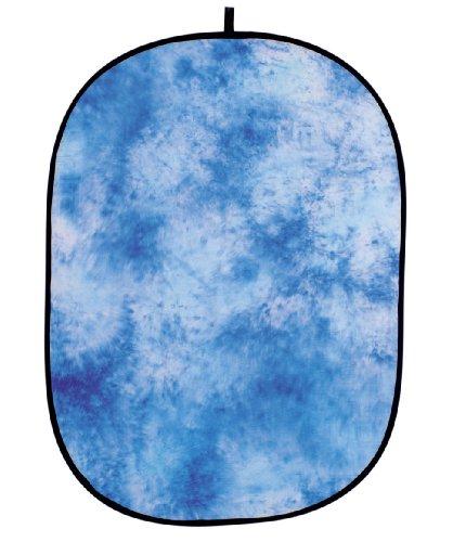 Helios fond studio photo pliant gewolkt bleu 150 x 200 cm