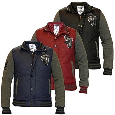 Männer Smith & Jones Rayleigh Designer gesteppte Mantel Funnel Neck Zip bis Baseball Jacket