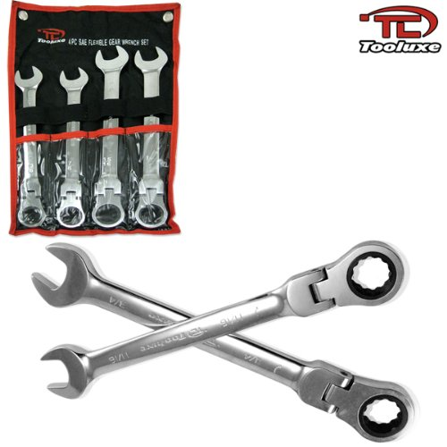 Include Complete SAE Inch Sizes from 1-1//16 to 2 with Storage Tray Mirror Chrome Finish 14-Piece Premium 1//2 Drive Jumbo Crowfoot Wrench Set Chrome Vanadium Steel