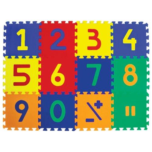 Picture of Edushape Edutiles Foam Playmats Number Mats 10 Piece Set (B000YL5S52) (Puzzle Play Mats)