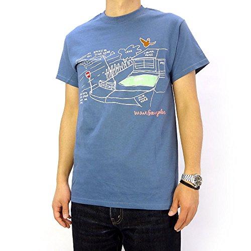 (マークゴンザレス) Mark Gonzales スケートパークTシャツ ブルー (L)