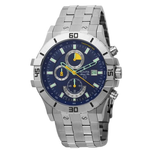 Bulova Men's 96B115 Marine Star Blue Dial Chronograph Watch