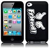 Black Inbetweeners Friend Inspired Silicone Skin Case Cover For iPod Touch 4by TERRAPIN