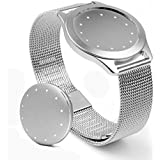 Biaoge New Sports Wrist Strap Silver Mesh Band Matched For Misfit Shine