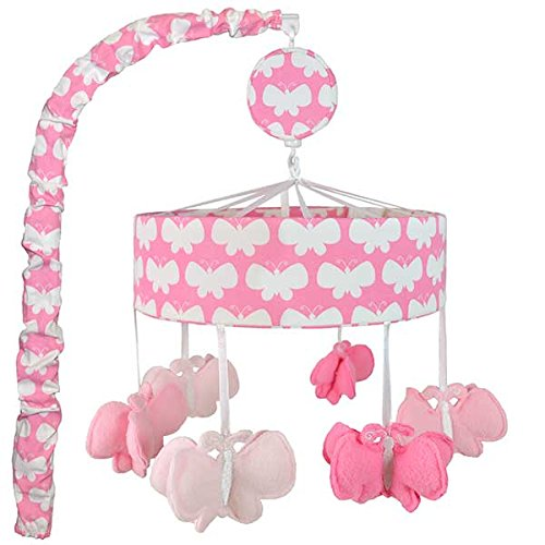 Safe Sleep Butterflies Pink Mobile - 1