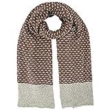 Luxury Divas Two-Tone Knit Oversize Oblong Scarf