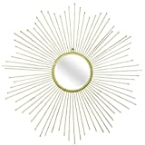 Ruhi Collections Metal Sunburst Shape Decorative Wall Mirror For Home Décor