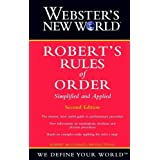 Webster's New World Robert's Rules of Order Simplified and Applied, 2nd Edition ~ Robert McConnell...