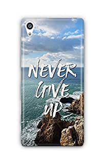 YuBingo Never Give Up Designer Mobile Case Back Cover for Sony Xperia Z5 Plus