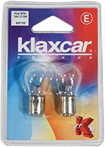 KLAXCAR France 86282X Stop Blister 2 Fils 24V 21/5W Bay15D P21/5W