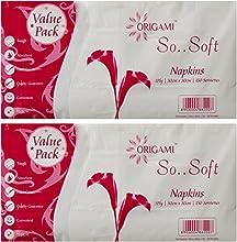 Origami So Soft Plain Napkins Value Pack 30 cm x 30 cm - 150 Serviettes (1 Ply, Pack of 2)