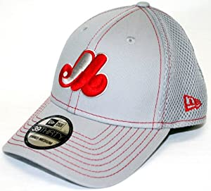 Montreal Expos New Era MLB 39THIRTY Neo Fitted Hat - Gray by New Era