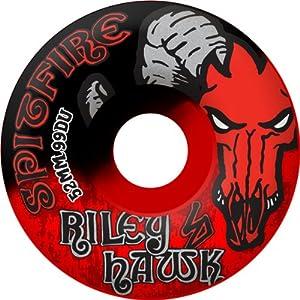 Buy Spitfire Riley Hawk 52mm Black Red Swirl Skateboard Wheels (Set Of 4) by Spitfire