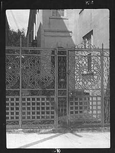1920 Wroug on gate at 27 Meeting Street, Charleston, South Carolina vintage ht ir