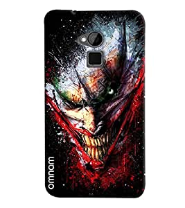 Omnam Dragon Laughing Pose Printed Designer Back Cover Case For HTC One Max