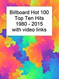 Billboard Top 10 Hits 1980-2015 with