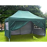Quictent 10x15 Ez Pop up Canopy Gazebo Party Wedding Tent Green with Walls steel Joints