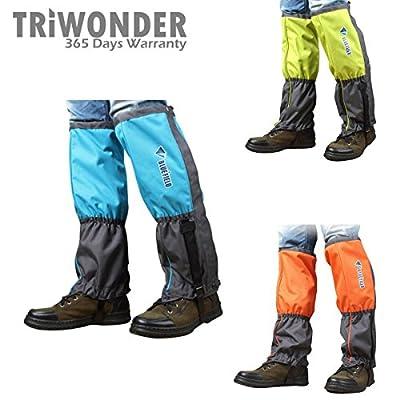 Triwonder 1 Pair Unisex Outdoor Snow Leg Gaiters Leggings Cover Waterproof Snowproof Anti-tear for Hiking Walking Climbing Hunting