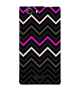 Pink Fashion Chevron 3D Hard Polycarbonate Designer Back Case Cover for Micromax Canvas Nitro 2 E311 :: Micromax Canvas Nitro 2 (2nd Gen)