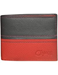 designer male wallets 4czv  Style98 Black and Red Genuine Leather Designer Wallet with Coin Pocket for  Men