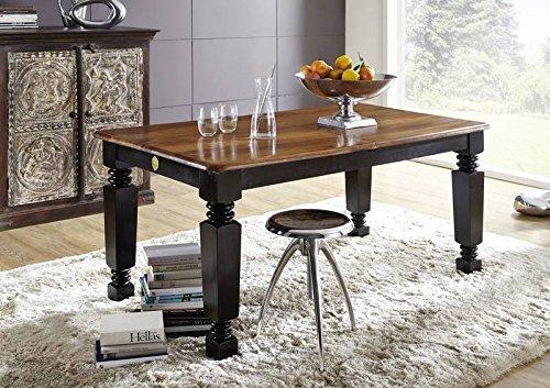 stile coloniale Sheesham in legno massello mobili Tavolo da pranzo 160/200x90 palissandro MASSICCIO LACCATO MOBILI IN LEGNO MASSELLO Boston #150