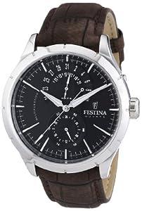 Festina - F16573/4 - Montre Homme - Quartz Analogique - Bracelet Cuir Marron