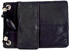 Leather ID Holder from Marshal- 561r,Black,Regular
