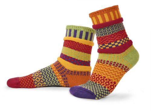 Solmate Socks - Mismatched Crew Socks; Made in USA; Daffodil XL (Made In Maine compare prices)