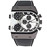 R-STYLE POPなカラーとデザインで存在感抜群 トリプルフェイス アナログ 腕時計 マイクロファイバークロス付きモデル (ホワイト クロス付き)