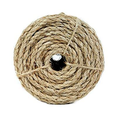 Koch 5300836 1/4 by 100-Feet Sisal Twisted 3 Strand Rope, Natural by Koch Industries