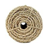 Yellow Koch 5001235 3//8 by 50-Feet Poly Twisted 3 Strand Rope