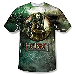 The Hobbit: Battle Of The Five Armies Dwarves vs Azog All Over Print Front T-Shirt