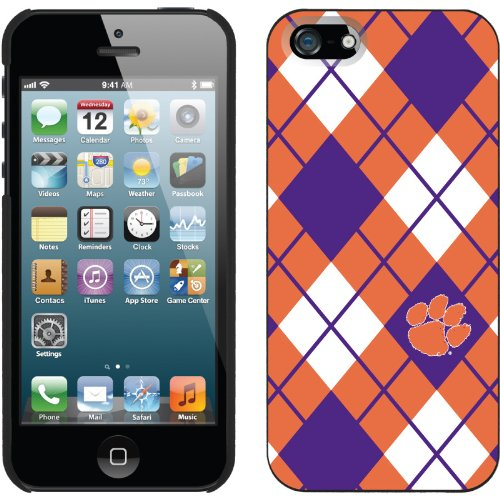 Great Price Clemson - Argyle design on a Black iPhone 5 Thinshield Snap-On Case by Coveroo