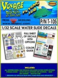 TSDS - T105 - VOYAGE TO THE BOTTOM OF THE SEA - THE FLYING SUB: WATER-SLIDE DECAL SET
