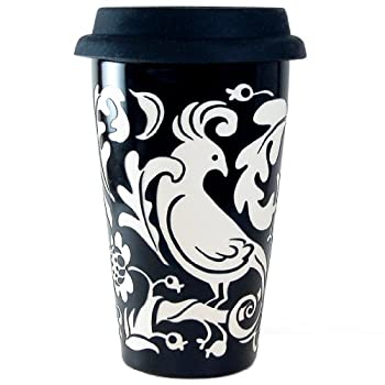 Sandblasted Floral To-Go Mug