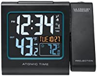 La Crosse Technology 616-146 Color Projection Alarm Clock with Outdoor temperature & Charging USB port from La Crosse Technology