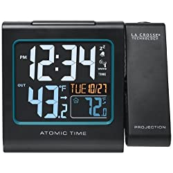 La Crosse Technology  616-146 Color Projection Alarm Clock with Outdoor temperature & Charging USB port
